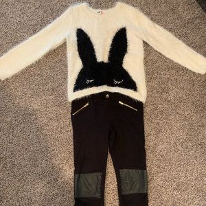 H&M sweater and pant set